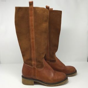 Sbicca | Brown Leather Calf High Boots 8.5